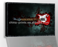 Electric Guitar Printing Canvas,Muscial Instrument Prints