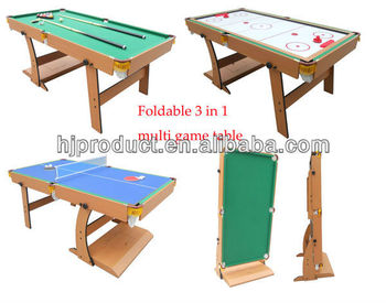 3 In 1 Folding Multi Game Table   Pool Table, Sir Hockey Tabke And Table