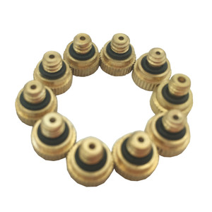 Brass Misting Nozzles for Cooling System with Stainless Steel Orifice 0.15/0.2/0.3/0.4/0.5//0.6/0.8mm Garden 10/24