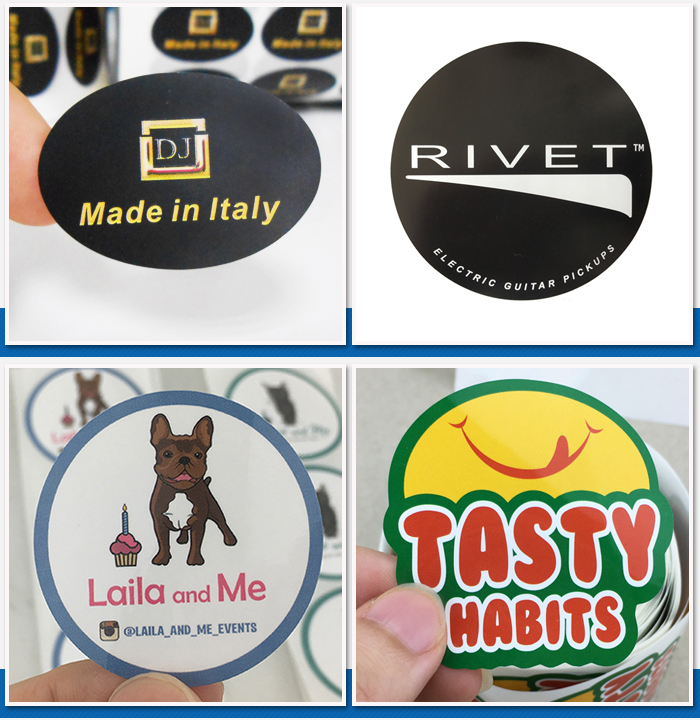 Cheap Price custom printed round brand name logo sticker printed paper labels