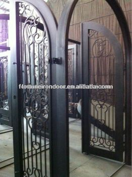 Arched Iron Wrought Security Doors