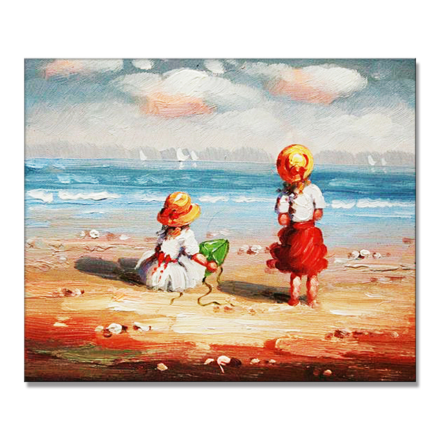New Arrival Modern Figure Children Oil Painting Artists Names