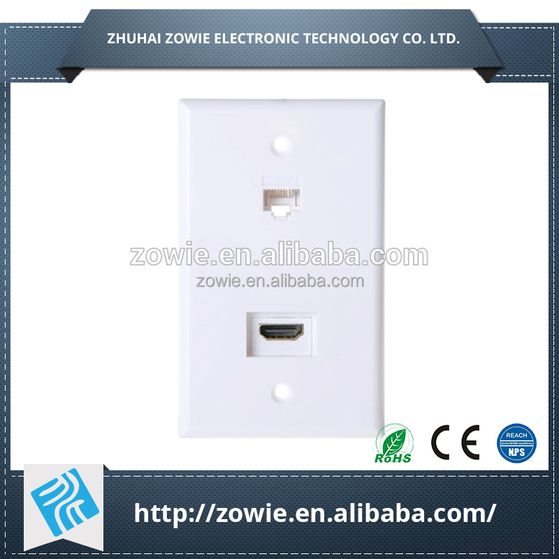 RJ 45 Ethernet plaque murale HDMI