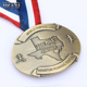 Custom design 100 miles finisher zinc alloy metal bronze medals brass plate with ribbon blank sublimation