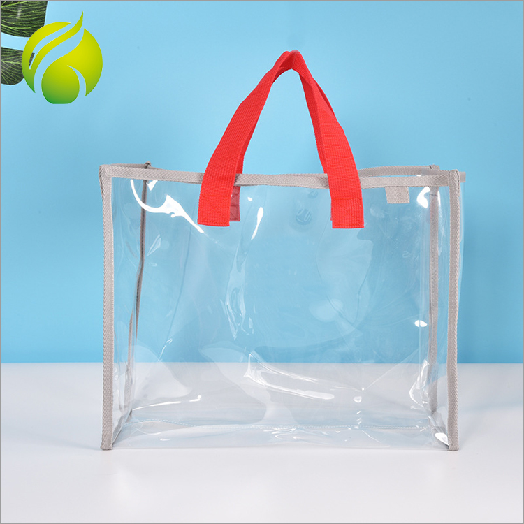 New arrival fashion hand tote lady waterproof PVC swimming transparent beach bag