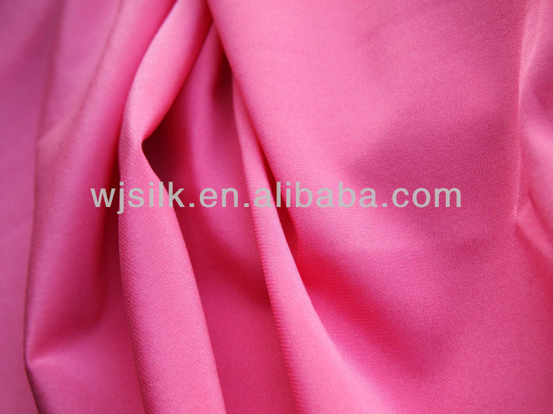 Stretch silk crepe fabric