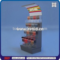 TSD-W655 acrylic display for candy,supermarket acrylic rack display candy bulk,retail store floor stand nuts display