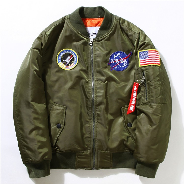 NEW 2016 Flight Pilot Jacket Bomber Ma1 Jackets For Men ...