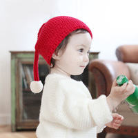 christmas Winter Hat For Girls Knit Beanie Baby Hat For Children Fur Pom Pom Warm Hats For Girls Boys