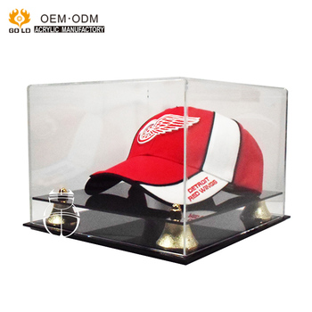 Manufacture Hot Sale Clear Acrylic Baseball Hat Display Storage Box