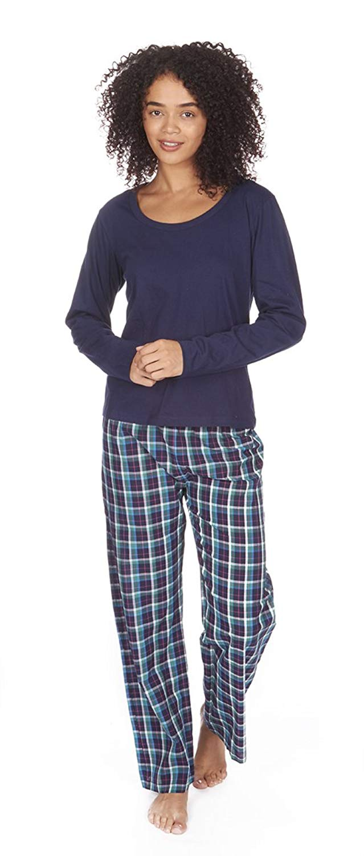 81929b6386 HUE Womens Printed Knit Tank and Bermuda Short 2 Piece Pajama Set