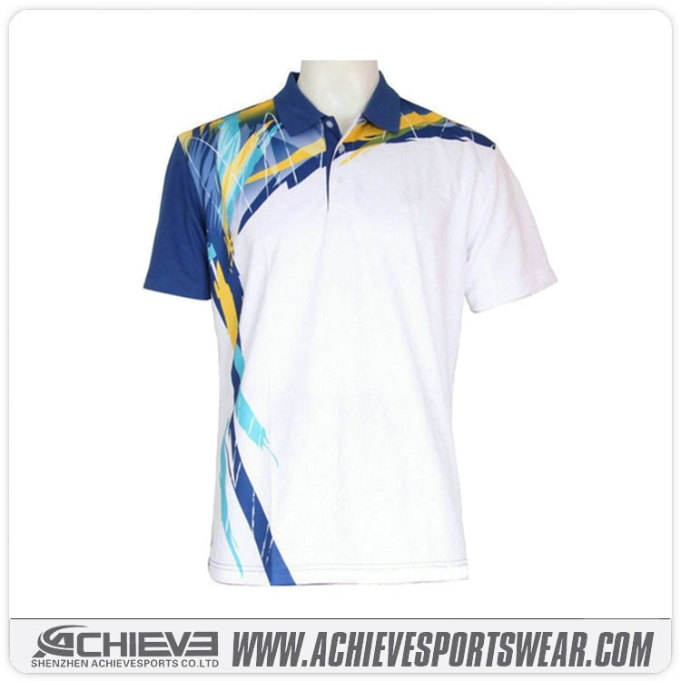 sublimation printing polyester t shirt cheap sports polo t