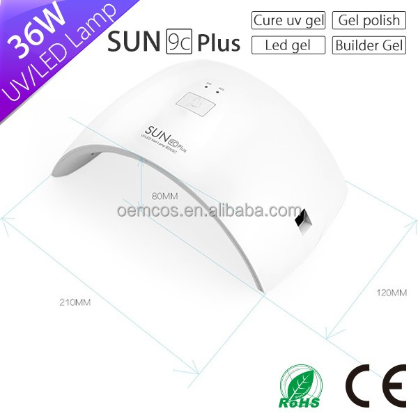 Japanese import machine sun9c plus 36w uv nail lamps from manufacturing