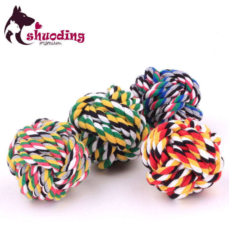 Colored Thread Ball Durable Cotton Rope Healthy Molar Pet Toy Ball