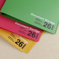 PP 26 rings binder B5 size Pantone color file folder hand print document folder