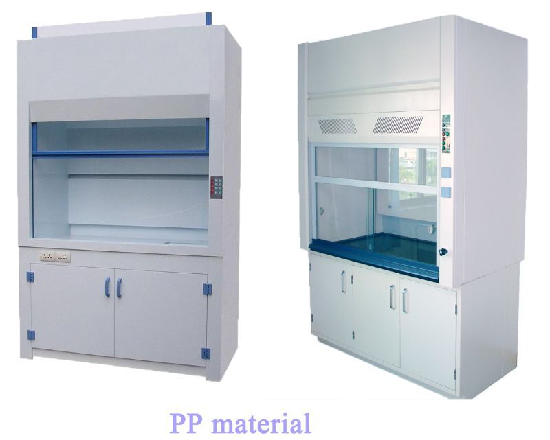 All Steel Laboratory Fume Cupboards Unit With Pp Sink And Faucet