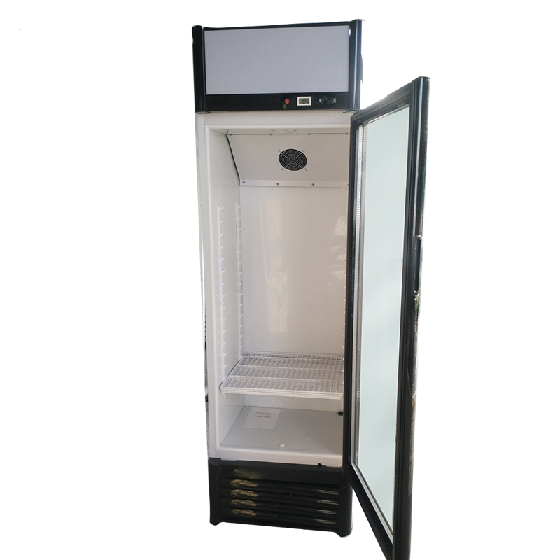 400L vertical refrigerated showcase used display cooler single glass door commercial beverage fridge