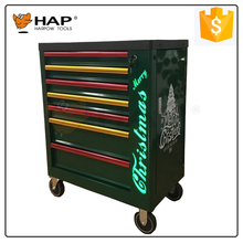 2017 New Design 6 Drawers Metal Tool Cabinet On Wheels