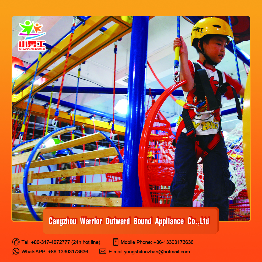 New arrival indoor adventure games,developing rope course for sale