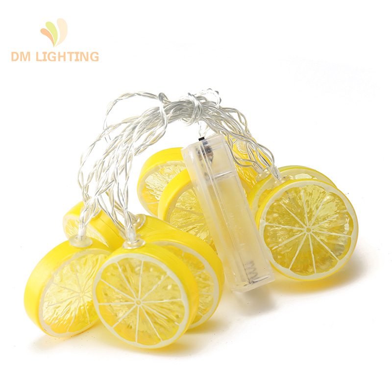 wholesale battery operated Lemon Led fairy string lights for room wedding christmas decoration
