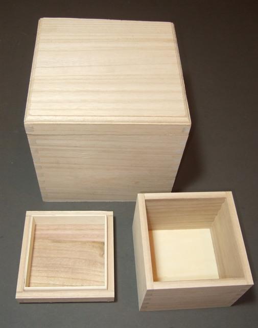 Wood Factory Handmade Fsc Cube Square Plain Wooden Box