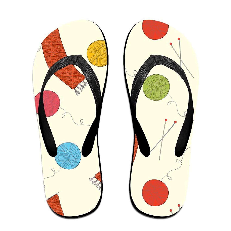 Knitting Men's And Women's Sandals Flip Flops,Indoor & Outdoor Sandals,Comfortable Non-Slip Summer Beach Slipper