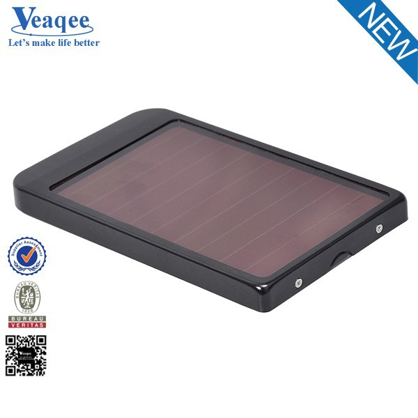 Veaqee Solar Battery Chargers 5000mAh Portable USB Solar Energy Panel Power Bank / inverter charger solar panel