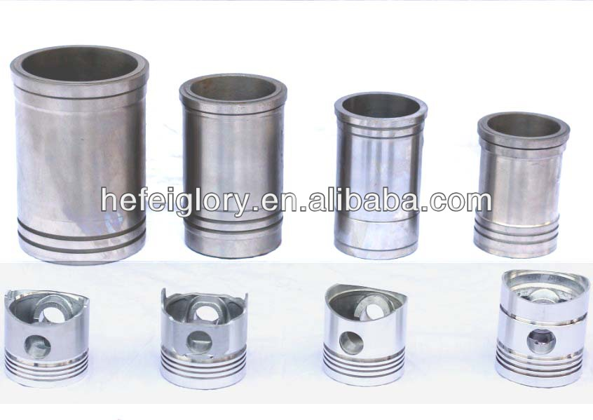Single Cylinder 4 Stroke Diesel Engine Parts Linerpiston