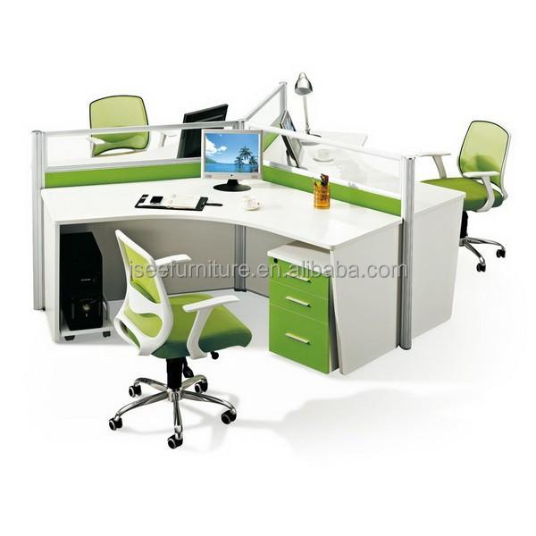 Cub culos de oficina estaci n de trabajo redonda para 3 for Cubiculos de oficina