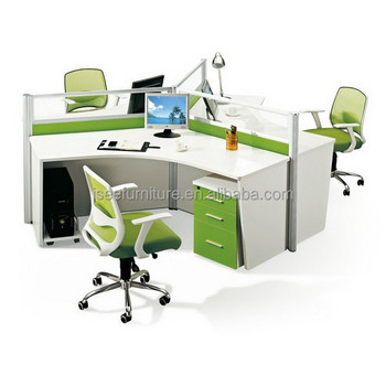 Office cubicles round workstation for 3 person ic008 buy for Cubiculos de oficina