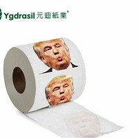 2018 Funny Donald Trump Novelty Design Custom Printed Toilet Paper/toilet tissue