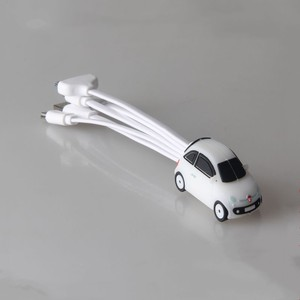 CE ROHS FCC custom pvc cable 4 in 1 customized creative car shape usb charger cables