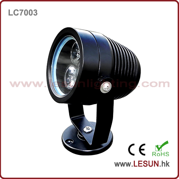 IP65 Gold/black housing 3W led waterproof pool lamp LC7003