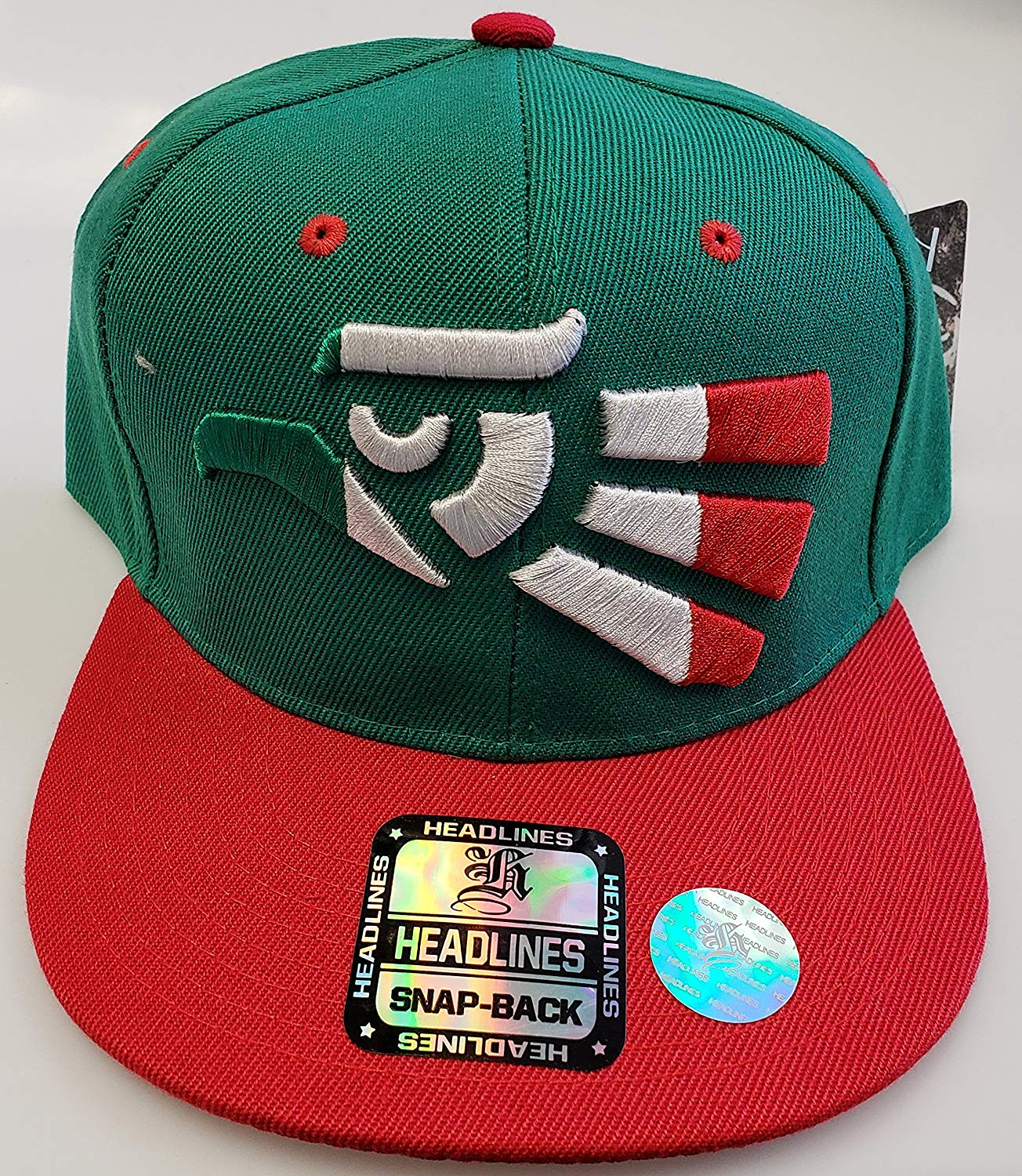 Get Quotations · Sol Sport New! Mexico Aztec Adjustable Snap Back 3D  Embroidered Cap ddd0bf1df21