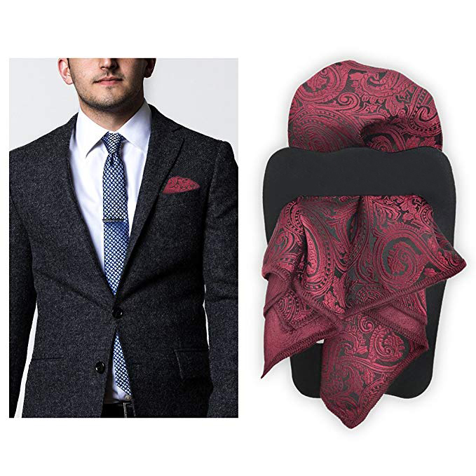 Fancy Flower Cotton Printed Handkerchief Pocket Square Hanky For Men