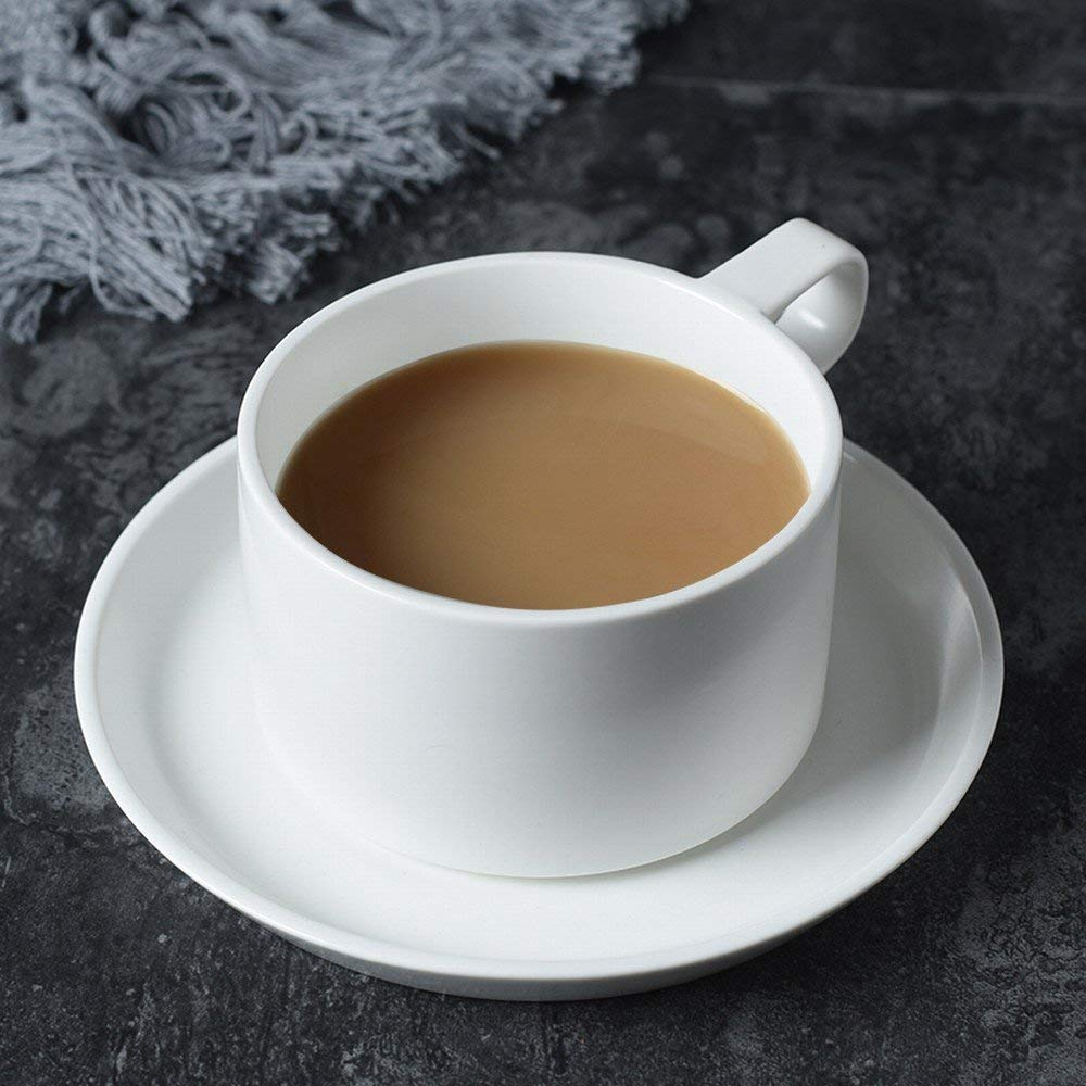 WI American Coffee Cup Set Ceramic Household Creative Coffee Cup Saucer Continental Cup Spoon Holder