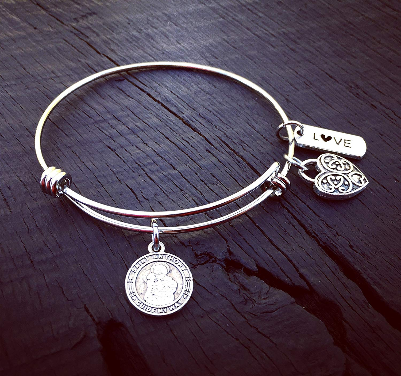 St. Anthony Charm Bracelet | Saint Anthony Jewelry | Patron Saint Of Lost Things | Patron Saint Of The Poor & Sick | Catholic Saint Necklace