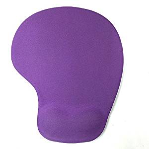 Mouse Pads, Comfort Silica Gel Wrist Rest Support Mouse Pad for Computer (Purple)