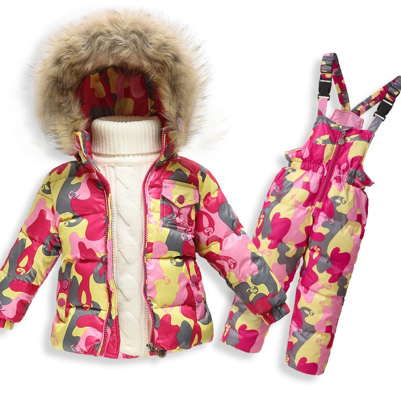 Toddler Baby Boys Girls Warm Winter Jacket Hoodies Outwear Snowsuit Coat Clothes