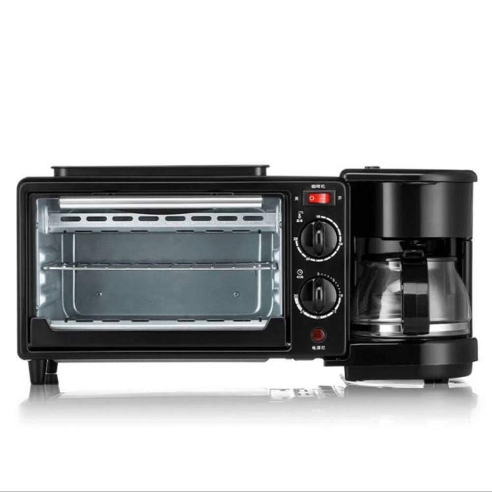 LJ-MBJ 3 in1 Breakfast Machine, Household Multifunction Automatic Toaster, Make Coffee, Toast, Fried Eggs, Breakfast Maker, Bread Baking Machine-A
