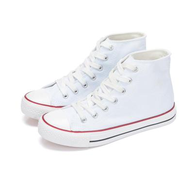 1$ dollar shoes women's classic white canvas big discount used shoes surplus footwear in stock WSK71405