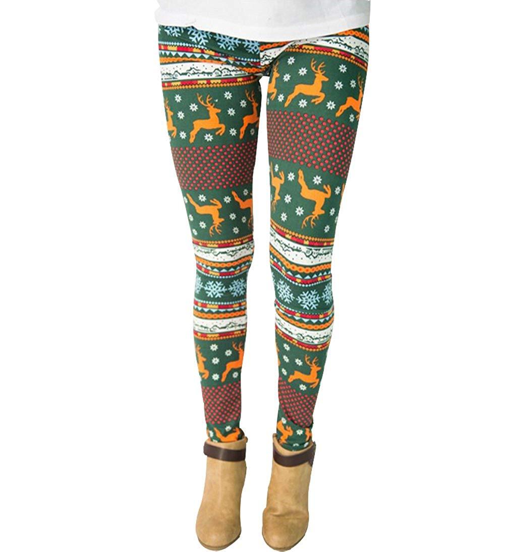 Eternatastic Women's Leggings Pants Chirstmas Floral Printed Yoga Workout Leggings