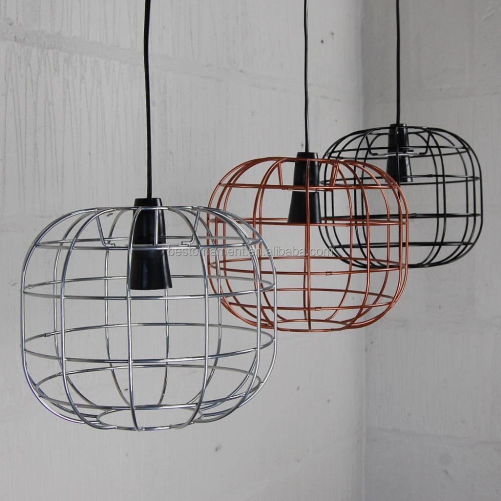 Faraday Käfig Lampe Industrie Metall Draht Pendelleuchte Bar ...