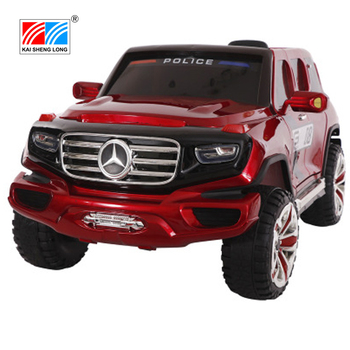 Wholesale cheap licensed Benz enameled 4x4 big police toy electric ride on car for kids