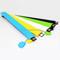 OEM wrist strap usb flash drive adjustable silicon wristband