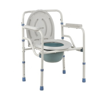 High quality homemade wholesale detachable commode wheel chair toilet commode chair