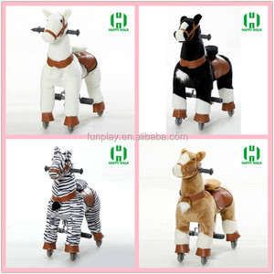 HI CE carousel horse ride bouncing walking horse toy for sale