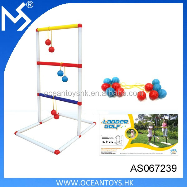 Children Outdoor Ladder Ball Toss Ladder Golf Game 12PCS