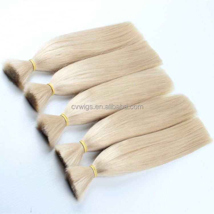 Factory pirce cheap top quality blonde straight brazilian virgin human hair bulk