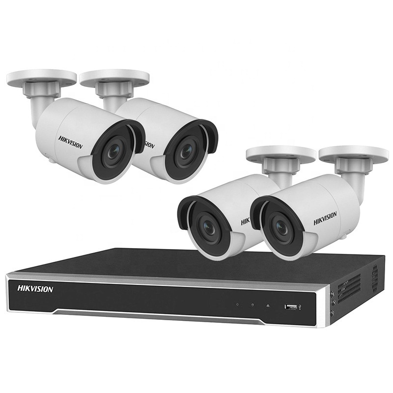 Hikvision 5mp Bullet <strong>Camera</strong> Kit 4pcs CCTV IP <strong>Camera</strong> DS-2CD2055FWD-I & 4ch NVR DS-7604NI-K1/4P HDD Optional